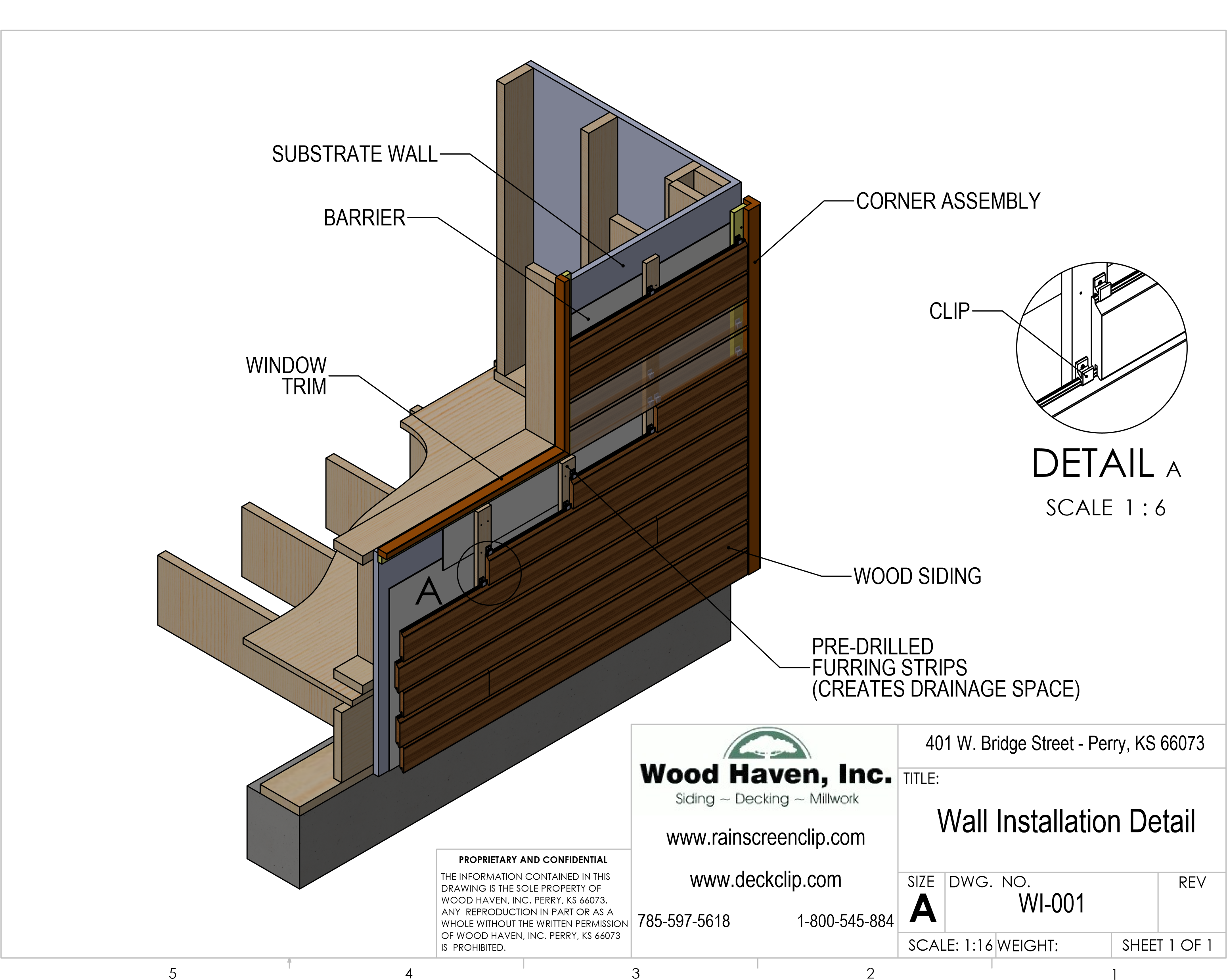 Wooden Cladding Detail ~ The rainscreen clip™ wood haven inc