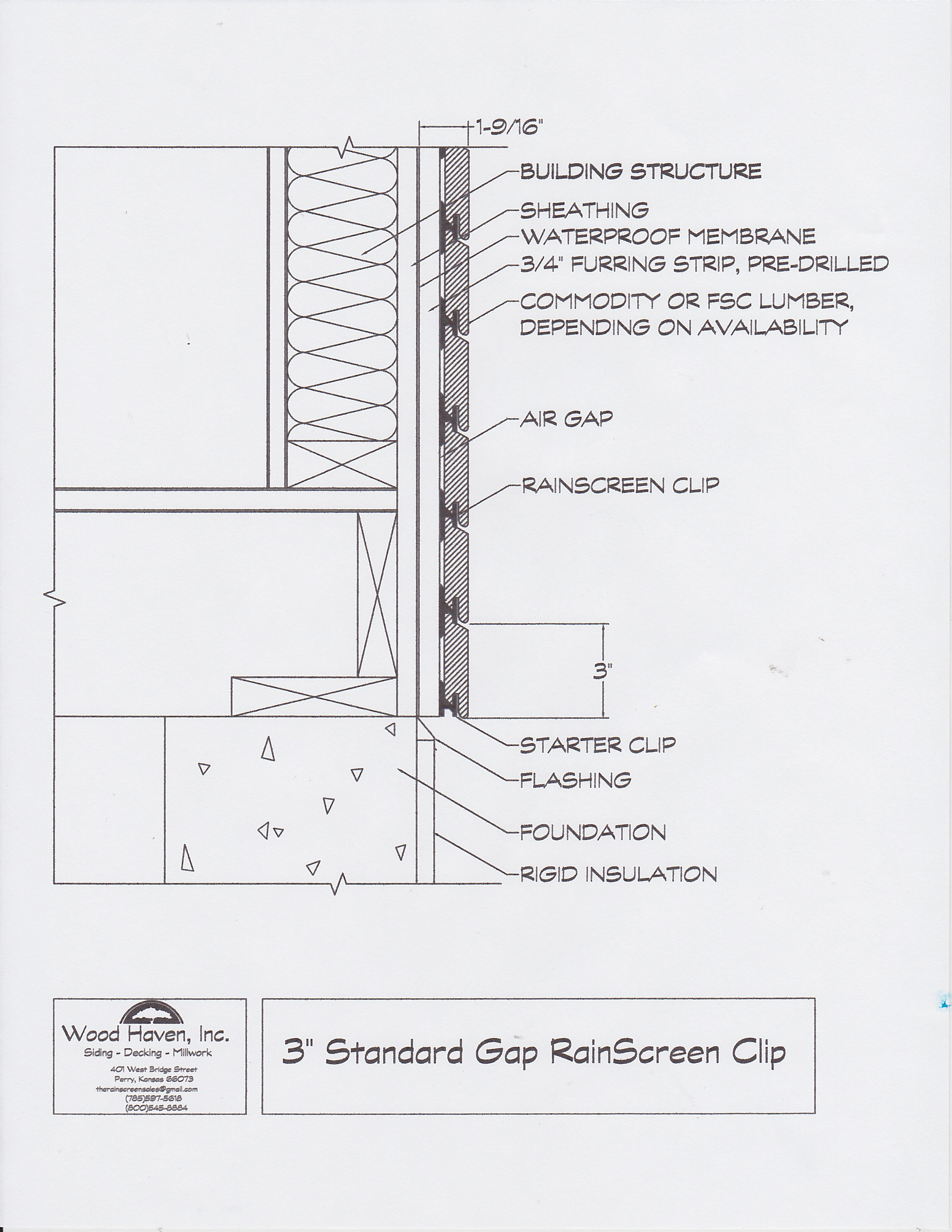 The Rainscreen Clip Specs Amp Detail Drawings Wood Haven