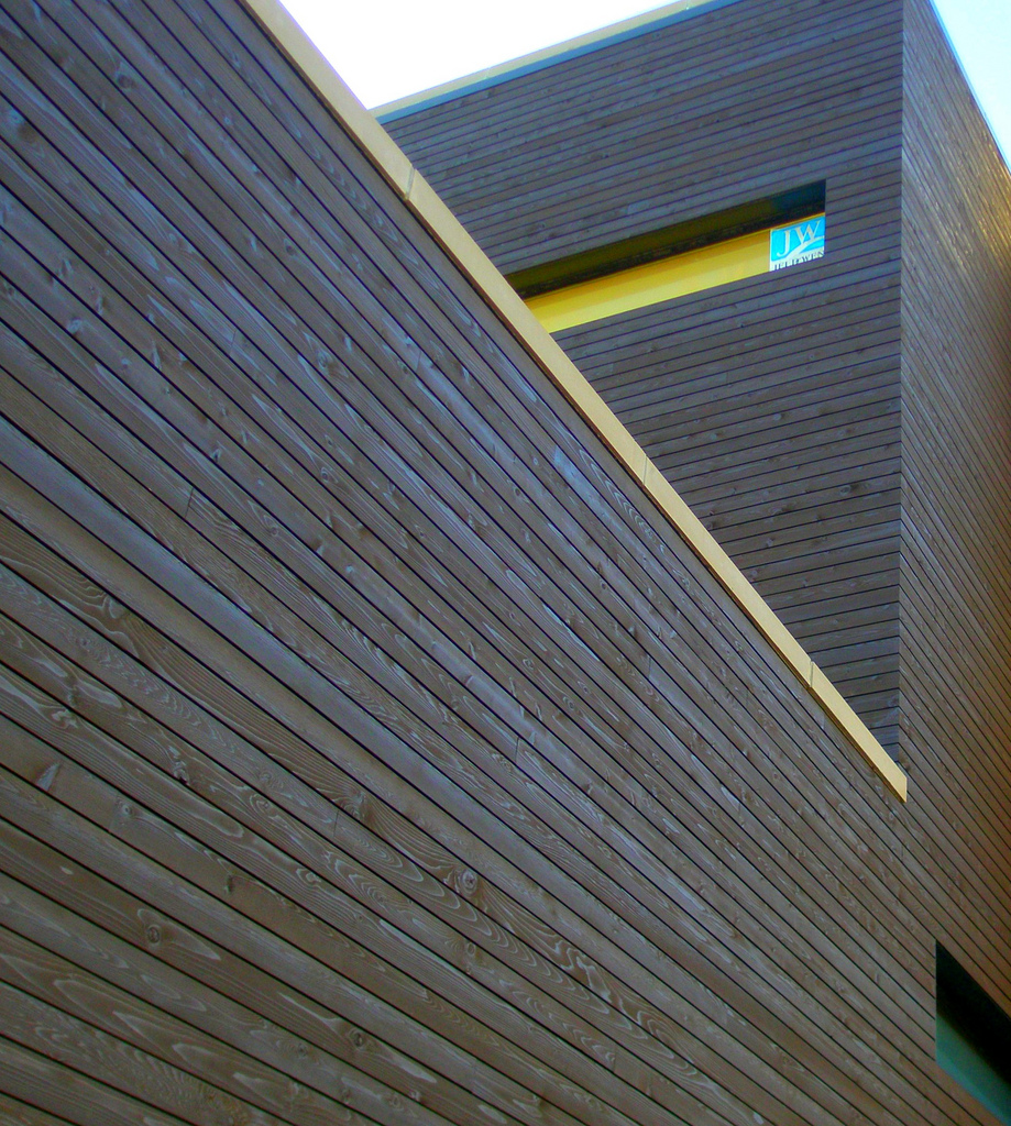Wood Rainscreen Cladding : Commercial applications wood haven inc